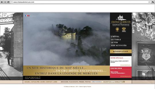 Site internet du Château de Mercuès © Agence Panama